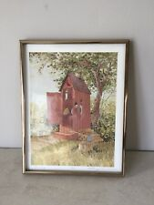 Bathroom Outhouse The Privy Lithograph Signed William J Coombs Sear Roubuck