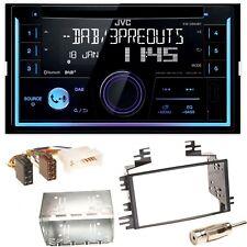 JVC KW-DB93BT USB CD Bluetooth DAB+ Einbauset für Kia Sportage JE Rio JB