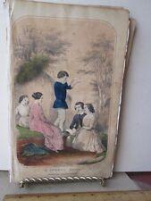 Vintage Print,SUMMER SCENE,Ladies Repository,1857