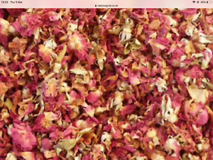 1PINT 50g dried red rose flowers rose buds TEA FOOD POTPOURRI RECIPES SOAP CRAFT