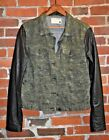 RAG & BONE/JEAN Digital Camo Black Leather Sleeve Light Jacket Size M