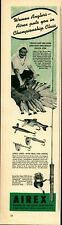 1952 Airex women ladies female angler fishing spinning reel & lures print ad