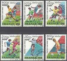 Timbres Sports Football Laos 1281/6 o lot 2029
