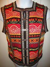 Vrikke Norwegian Norway 100% Wool Sweater Vest Clasps Irene Maugland Zahl XS