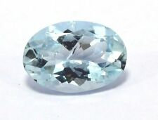 1.80 Carat Natural Aquamarine Loose Gemstone 10X7mm Oval Faceted Cut S207