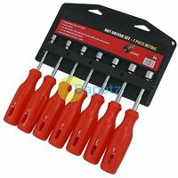 7Pc Nut Driver Spinner Tool Set 6 Point Metric 6 7 8 9 10 11 12mm Screwdrivers