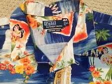 Polo Ralph Lauren Vintage Camp Hawaii Hawaiian Aloha Shirt - size XL MINT!