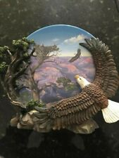 Coming Home Plate Wings of Freedom Bald Eagles Birds Hamilton Collection w Coa