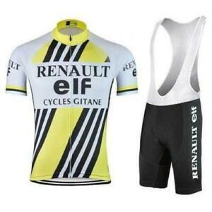 Retro 1983 Renault Elf Cycling Jersey Bib shorts