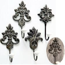 Holz Wandgarderobe Garderobenleiste Hakenleiste Garderobe Shabby Vintage 5 Haken