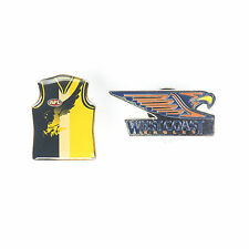 West Coast Eagles Official AFL Team Logo & Guernsey Collectors Pin Badge