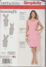 From UK Sewing Pattern - Amazing Fit Dress 10-18  # 1417