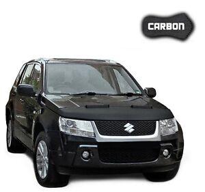 Black Bull Hood Bra Suzuki Grand Vitara 2 CARBON Car Bonnet Cover Protection