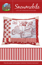 """""""Snowmobile"""" Redwork Embroidery Quilting Pattern ~~ Tricia Cribbs FriendFolks"""