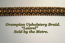 "Old Gold & Green Upholstery Braid ""Grampian Laurel"" 18mm (sold by the Metre)"