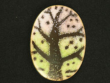 """FABULOUS 50's ONE OF A KIND HAND MADE ABSTRACT ART ENAMEL PIN BROOCH ~ 2"""""""