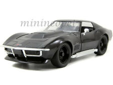 JADA BIGTIME 96891 1969 69 CHEVY CORVETTE STINGRAY ZL-1 1/24 DIECAST BLACK