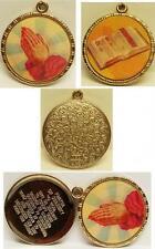 1960's Vari Vue Religious Flicker Pendant Locket w/Prayer Inside