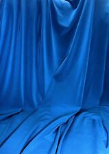 BLUE  ITY Stretch Jersey Knit Interlock Fabric Wringle Resist Smooth Fluid Drape