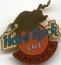 Hard Rock Cafe HOUSTON 1999 BULL on HRC Logo PIN #2 of 3 - HRC Catalog #3277