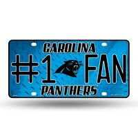 Carolina Panthers #1 Fan Metal Embossed License Plate NFL Officially Licensed