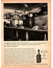 1967 White Rabbit Saloon Photo Jack Daniels Tennessee Whiskey Lynchburg Print Ad