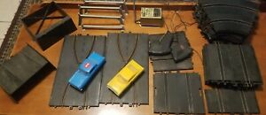 ELDON 1965 ROAD RACE SET DODGE CHARGER & THRILL DRIVERS CORONET 30+ PIECES
