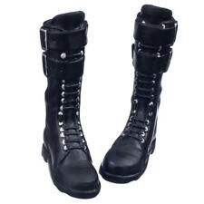 """1/6 Female Lace up BOOTS Shoes for 12"""" Kumik Phicen Hot Toys Figures Black"""