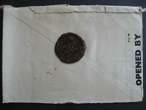 Russia WWII censored cover to USA with nice wax seal, check it out!