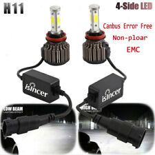 4Side+CANBUS H11 H9 COB LED Headlight Kit 32500LM Hi-Lo Beam Bulbs 6000K White