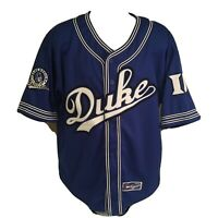 Colosseum Duke Blue Devils Mens Baseball Jersey XL Sewn Stitched Free Shipping