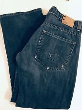 G-Star 3301 RADAR Low Loose Jeans Men's 36 100% Cotton Button Fly Adj Waist Boot