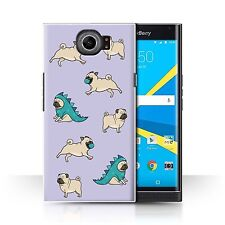 STUFF4 Case/Cover for BlackBerry Priv/Cartoon Pug/Dog/Play Time/Pattern