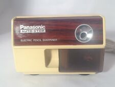 Vintage Panasonic Electric Pencil Sharpener Model KP-110 Auto Stop Made in Japan