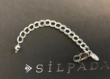 """Silpada RARE N0720 Sterling Silver Necklace  Extender 3"""" NEW Double ring link"""
