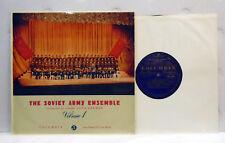 "Soviet Army Ensemble Vol 1   10"" vinyl LP Columbia 33C 1049  N/MINT"