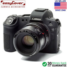 easyCover Protective Silicon Skin - Camera Cover for Canon R (Black)