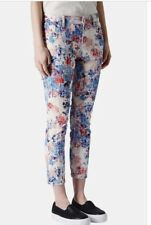 TOPSHOP Moto Leigh Jeans W26 L30 Flocked Floral (Blue-Milti)