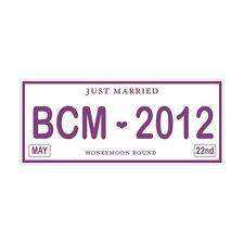 Personalized Printed Cardstock License Plate Wedding Keepsake - 38 Colors!