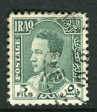 IRAQ; 1934 early King Ghazi issue fine used 5f. value