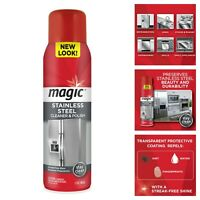 Magic Stainless Steel Cleaner & Polish Aerosol 17-Ounce Fingerprints Remover