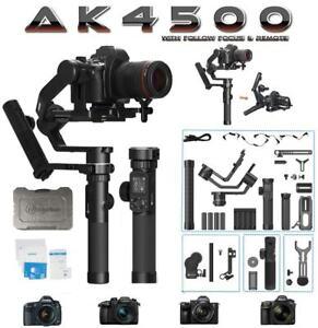 Feiyu AK4500 3-Axis Handheld Gimbal Stabilizer for DSLR Cameras w/ Follow Focus