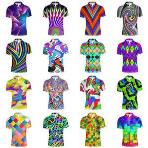 HUGS IDEA Fashion Adult Men's Jersey Polos Shirt Short Sleeve Golf Casual Shirts