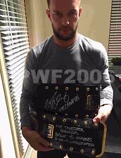 WWE NXT FINN BALOR HAND SIGNED REAL NXT CHAMPIONSHIP BELT WITH PIC PROOF 1