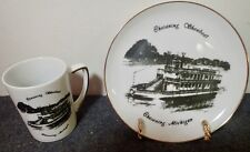 collector plate & matching cup Chesaning Showboat, Michigan Fine China Royal Ann