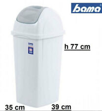 Pattumiera bianca bama basculante europa lt 65 alta cm 78 immondizia spazzatura
