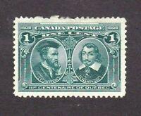 Canada stamp #97, MHOG, VF - VVF,  SCV $30.00