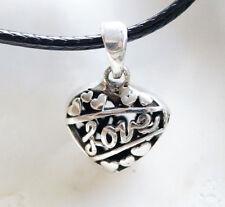 Silber Klein Anhänger 2 cm Floral Herz Verspielt Love Liebe Kettenanhänger Kette