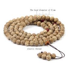 8mm Tibet Buddhist Star Moon Bodhi Seed 108 Prayer Beads Mala Necklace