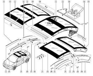 Genuine Renault Megane Cabriolet Mk2 Rectractable Roof Seal 7701057257 New